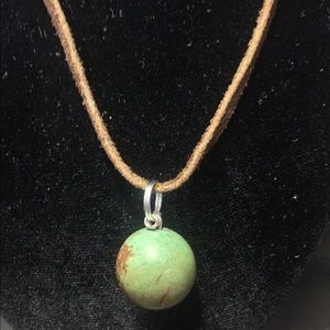 Handmade Green Jasper 🌍 Globe Necklace